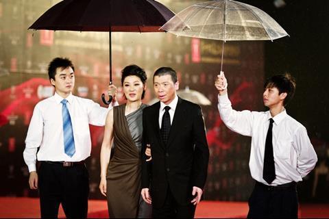 Director Feng Xiaogang and wife Xu Fan